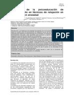 Ramírez, Espinoza, Herrera, Espinosa y Ramírez - Beneficios de la Psicoeducación de Entrenamiento en Técnicas de Relajación en Pacientes con Ansiedad
