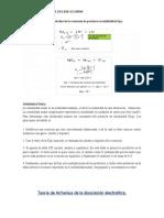 Kps y ácido base