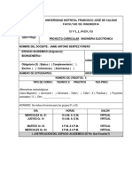 SYLLABUS BIOINGENIERÍA I  2020-1(1)