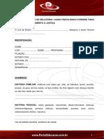 MODELO DE RELATÓRIO- LAUDO PSICOLÓGICO FORENSE 1547