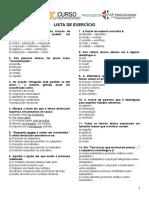 EXERCÍCIO PARA OS PROFESSORES DO CEFAP 1ª LISTA4