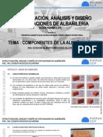 Tema 3. Componentes de la albañilería