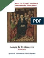 Lunes de Pentecostes. Propio y Ordinario de la santa misa