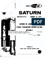 Saturn 1B Launch Vehicle Flight Evaluation Report SA-208 Skylab-4