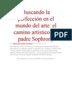Buscando la perfección en el mundo del arte_Sofronio