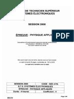 BTSSE Physique-Appliquee 2008