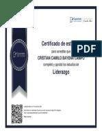CERTIFICADO DE LIDERAZGO