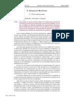 Pruebas de Acceso Resolución de 20 abril 2012