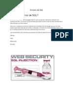 Errores de SQL