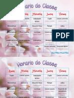 horario de clases laura