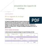 Support du stockage