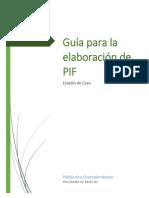 Guía PIF, programa Derecho