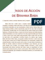 18 Pasos de Acción de Brahma Baba
