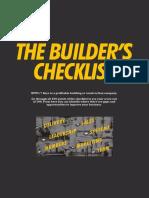 Builders Checklist