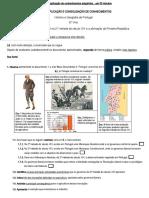 Ficha de aplicação de conhecimentos - 6.º Ano