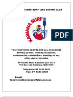 Kawana Waters Surf Club l Functions Pack