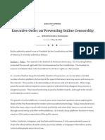 Executive Order on Preventing Online Censorship _ the White House