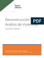 DECONSTRUCCIÓN Y ANÁLISIS DE VIOLENCIAS