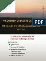 TRANSMISSÃO E OPERAÇÃO DE ENERGIA ELÉTRICA
