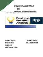 Ent(Feasibility Analysis)