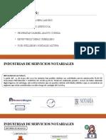 INDUSTRIAS DE SERVICIOS NOTARIALES