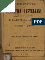 ELEMENTOS DE GRAMATICA