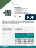 moxa-imc-101-series-datasheet-v1.3.pdf CONVERTIDOR DE MEDIOS