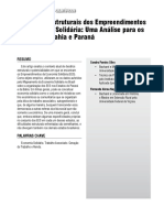 Dimensões Estruturais dos EES na Bahia e Paraná
