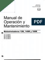 Manual motoniveladora 140 k