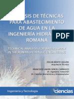LIBRO ANÁLISIS DE TÉCNICAS PARA ABASTECIMIENTO DE AGUA EN LA INGENIERÍA HIDRÁULICA ROMANA