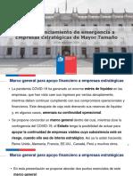 Marco Financiamiento de Emergencia a Empresas Estratégicas de Mayor Tamaño