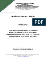 Diseño Pav Vía Talaigua Nuevo - Talaigua Viejo 2018