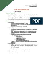 Guía de entrega del primer sprint del proyecto 2020