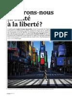 Préférons-nous la santé à la liberté- André Comte-Sponville contre Francis Wolff
