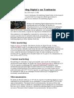 Marketing Digital y sus Tendencias