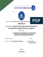 TEMA 2.VULCANIZAREA ȘI MATERIALELE CARE DETERMINA CARACTERISTICILE PRODUSULUI VULCANIZAT