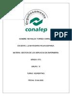 Descripción de elementos para la evaluación y control en los servicios de enfermería Y MAPA DE PROCESOS. RTC.       (22-04-2020)