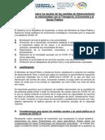 Protocolo de retorno a la vida productiva y reactivación de la economía nacional