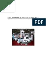 Sales Promotion of Morarjee Textile Mill