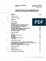 TELEBRÁS - SDT 240-410-600 - 1997 - Procedimentos de Projeto Para Torres Metálicas Auto-Suportadas, Estaiadas e Postes Metá.pdf