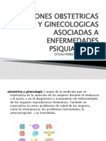 SITUACIONES OBSTETRICAS Y GINECOLOGICAS ASOCIADAS A ENFERMEDADES PSIQUIATRICAS