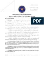 Dallas Local Disaster Proclamation