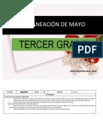 Planeacion Mayo 3er Grado 2019 2020