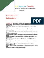 Tratados de límites con Colombia