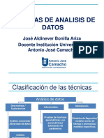 Tecnicas de analisis de datos - Jose