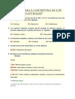 REGLAS PARA LA ESCRITURA DE LOS NÚMEROS NATURALES clase lectura y escritura de numeros