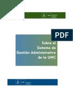 Sobre el sistema de gestión administrativa UNC