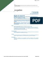 Règles FA - Règles de Calcul - Méthode de Prévision Par Le Calcul Du Comportement Au Feu Des Structures en Acier - Annexe