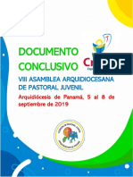 Documento Conclusivo de la VIII Asamblea Arquidiocesana de Pastoral Juvenil - Arquidiócesis de Panamá.pdf