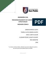 Informe TrabajoN°2 - Predimensionamiento Estructural-IS-CIV9-1 .pdf